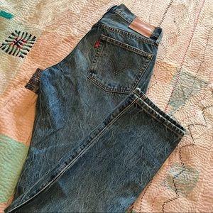 NWT 501 Selvedge White Oak Distressed Jeans